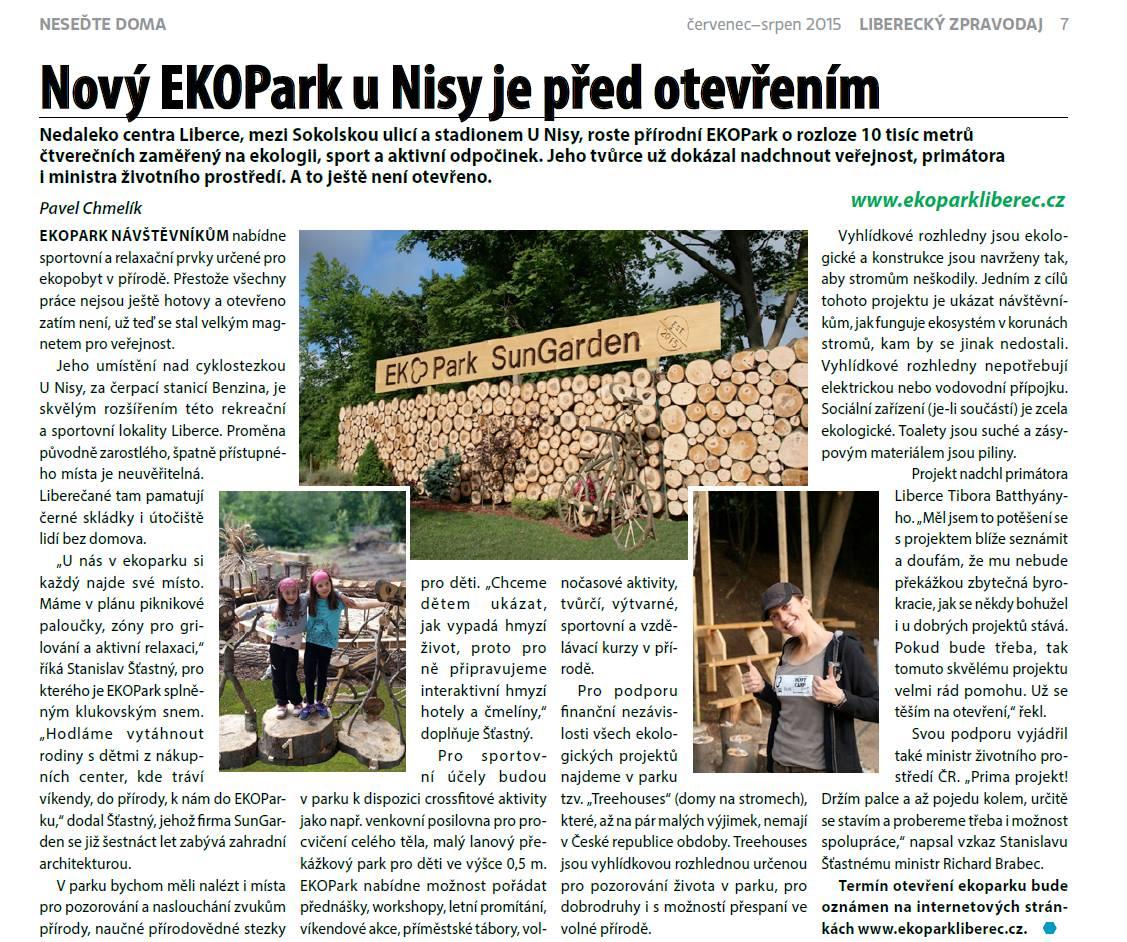 Park Liberec u Nisy před otevřením